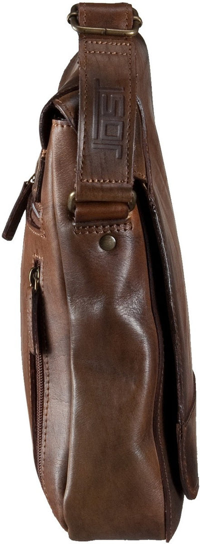 JOST RANGER 2451 COGNAC LEATHER SMALL MESSENGER BAG / POST BAG