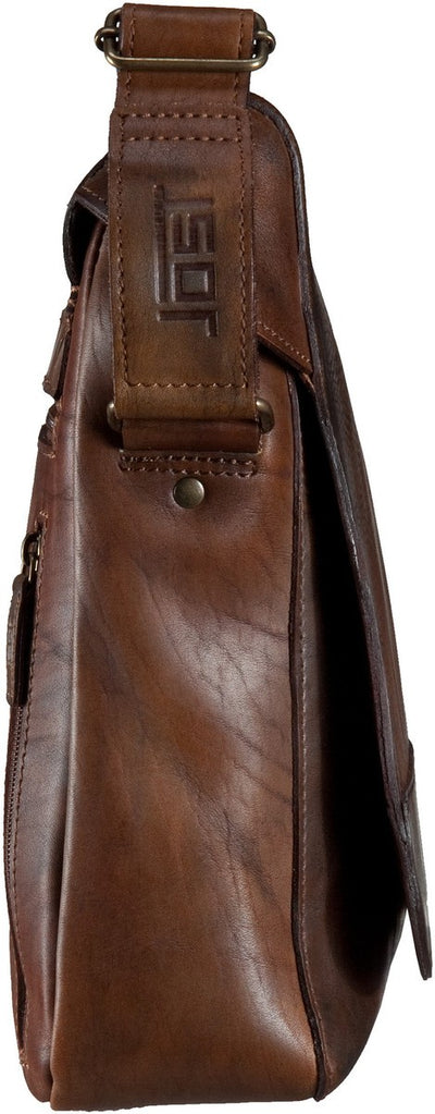JOST RANDERS 2452 COGNAC LEATHER MEDIUM MESSENGER BAG / SHOULDER BAG