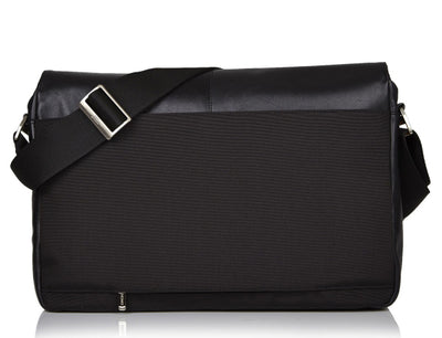 KNOMO KOBE BLACK REAL LEATHER SOFT MESSENGER BAG