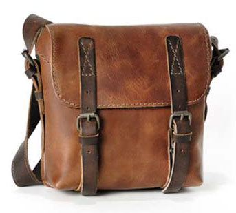 AUNTS & UNCLES LUCKY LOSER HAZELNUT / TAN LEATHER SMALL POSTBAG