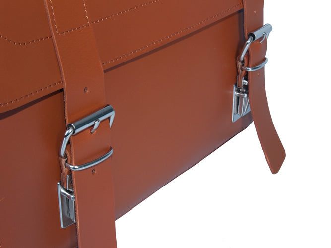 FREE TRIBE SMALL MESSENGER BAG WORTH £145 WITH PIMLICO VEGETABLE TANNED TAN LEATHER SATCHEL / BACKPACK