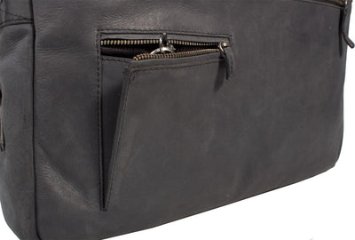 FREE UBERBAG CLUTCH WORTH £119 WITH UBERBAG INSIGNIA GRAPHITE GREY LEATHER LAPTOP BAG