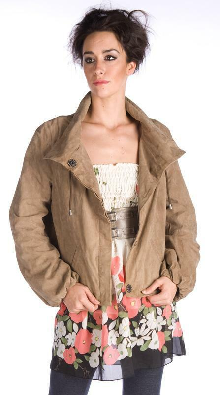 BLACK FRIDAY SALE!! NEW REDSKINS FAWN SOFT GOAT SUEDE LOOSE FIT SHORT JACKET