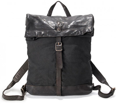 AUNTS & UNCLES SPARROW TOBACCO LEATHER BACKPACK