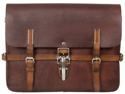 UBERBAG VINTAGE SWISS ARMY BROWN LEATHER MESSENGER BAG
