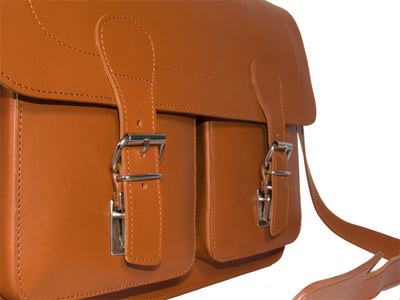 WINDSOR VEGETABLE TANNED TAN LEATHER SATCHEL / BRIEFCASE / BACKPACK