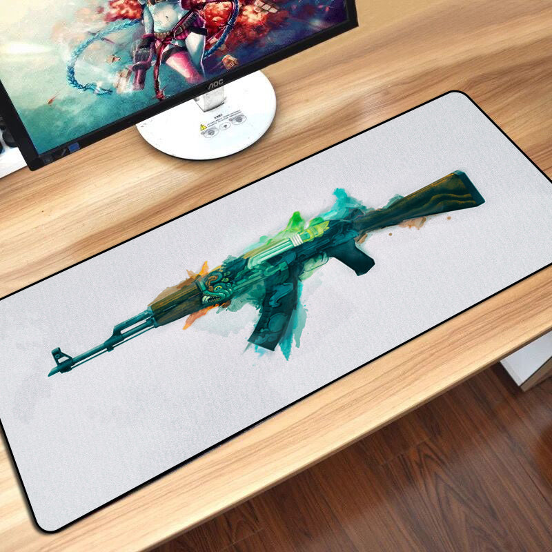 Tapis de souris XXL - AK47 Fire Serpent White - CSGAMING