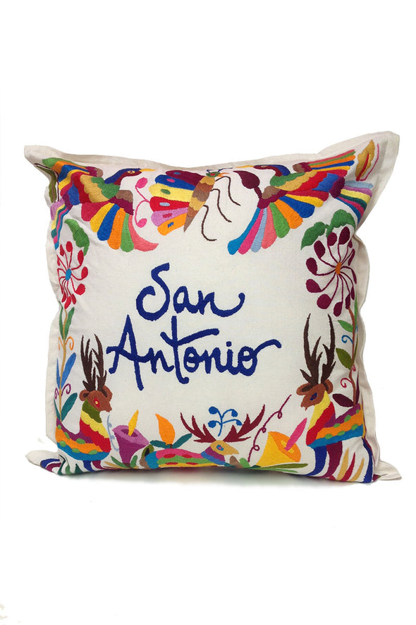 "Pillowcase- Otomi Embroidered - ""San Antonio"""