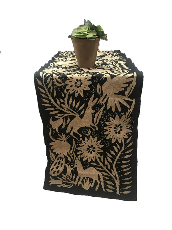 Table Runner - Otomi - Black/Tan