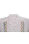 Codice Guayabera - White with Multi Colored Embroidery