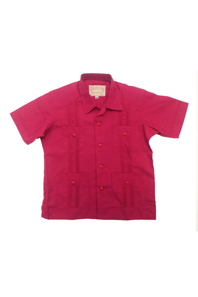 Boys Pink Guayabera - Sizes 1-14