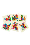 Otomi Embroidered Cocktail Napkins - Set of 6 - Multiple Colors