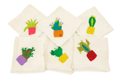 Cactus Cocktail Napkins - Set of 6