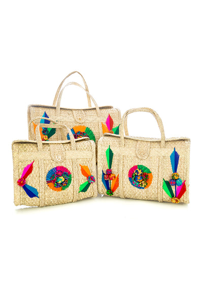 Mexican Acapulco Bag - Vintage Upgrade - 3 sizes - Multi