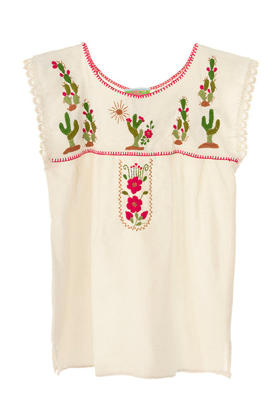 Women's Cactus Blouse Sleeveless- Natural