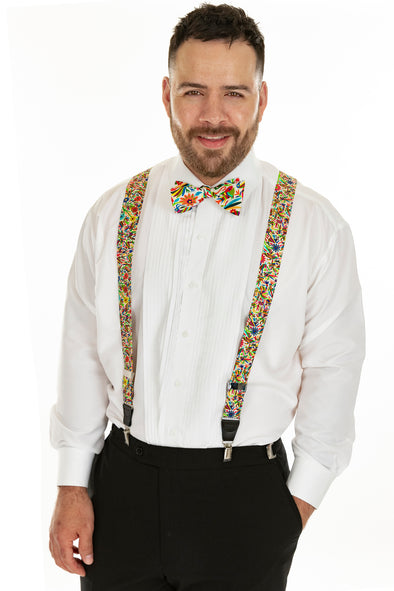 Silk Otomi -Suspenders - Multi