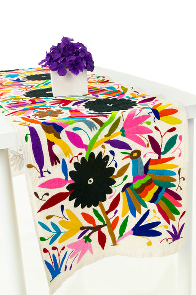 Otomi Table Runner - Natural/Multi