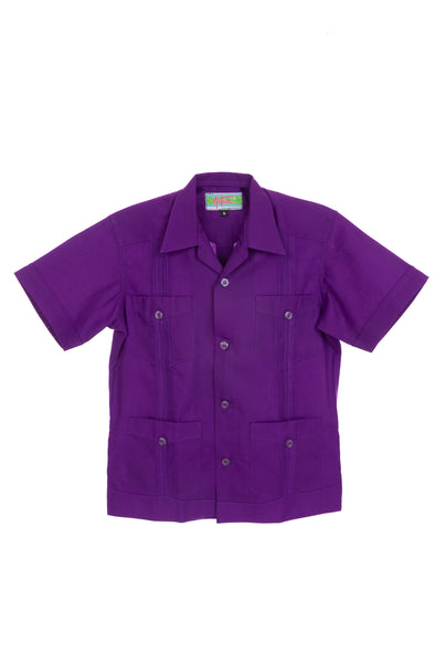 Boys Guayabera - Purple