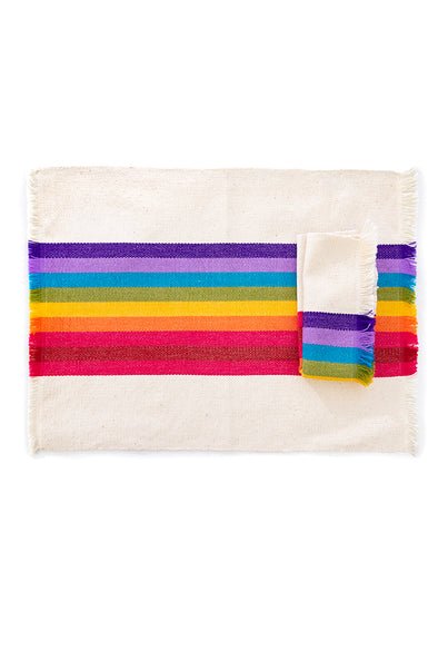 Placemat - Striped Woven - Multiple Color Options