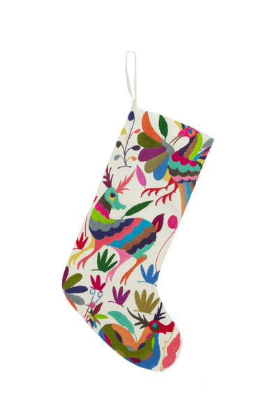 Stocking- Otomi Embroidered - Multi Color