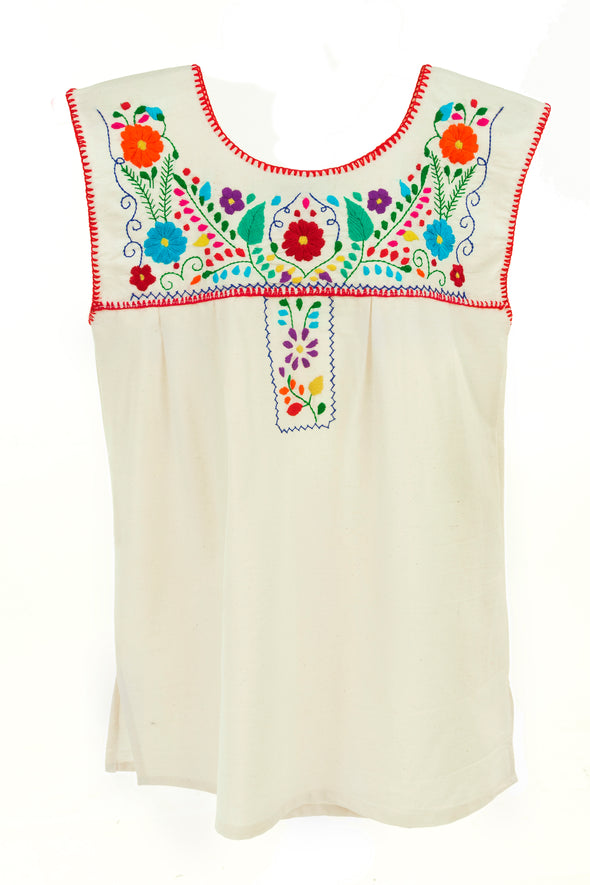 Xochitl Blouse- Cotton Multi Color Sleeveless-  Multiple Colors & Sizes
