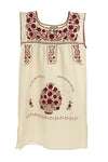 Mexican Embroidered Puebla Mini Dress - Plus Size -Collegiate Cotton Sleeveless - Multiple Colors