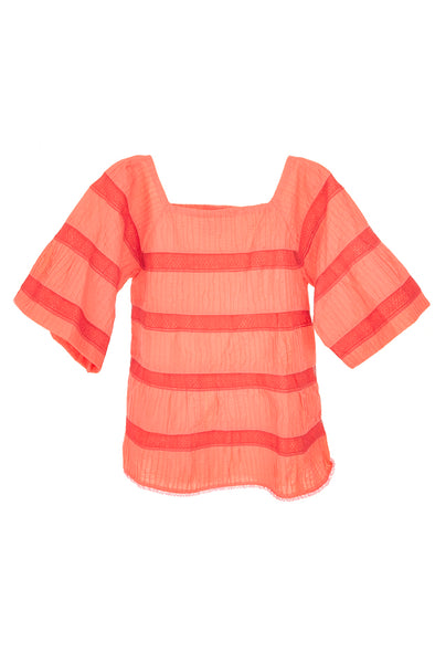 Mumu Blouse - Coral - Multiple Sizes