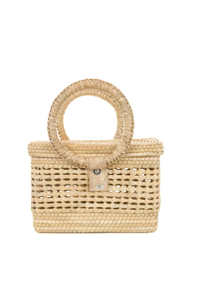 Handwoven Palm All Natural Purse - Rectangle