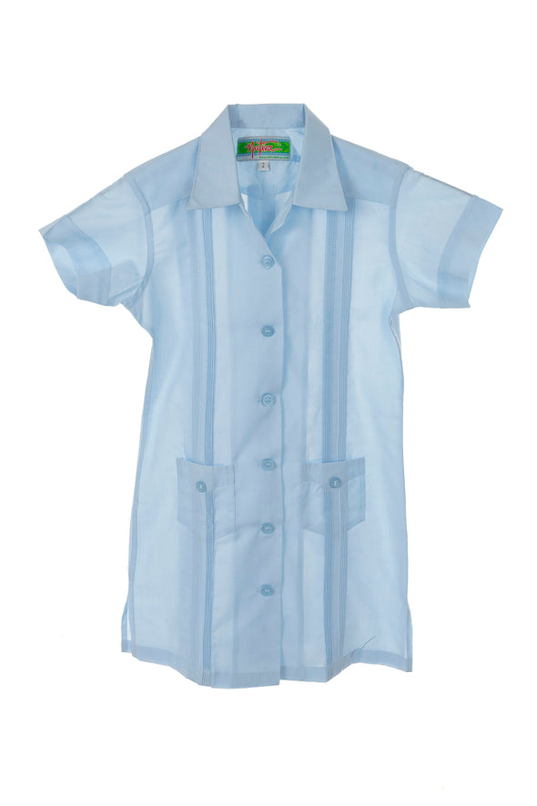 Girls Guayabera Cover Up Girls Dress - 2 Colors and Different Sizes Available