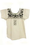 Xochitl Blouse - Cotton Sleeved-Multiple Embroidery Colors and Sizes
