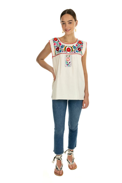 Xochitl Blouse- Multi Color Sleeveless- 6 Color Options - Multiple Sizes