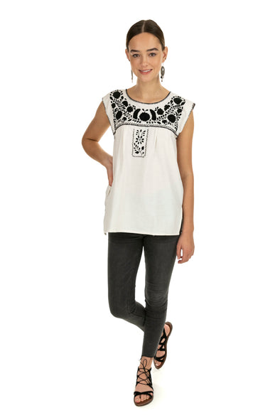 Xochitl Blouse- Cotton Sleeveless- 7 Color Options - Multiple Sizes