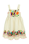 Natural Bib Otomi Girls Dress - Multiple Sizes