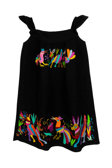Otomi Girls Sundress  - Black with Multi