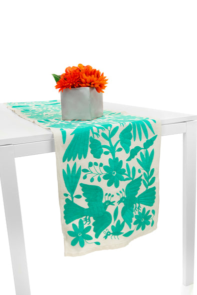 Table Runner - Otomi - Natural/Mint