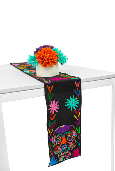 Table Runner - Otomi - Skull Black/Multi
