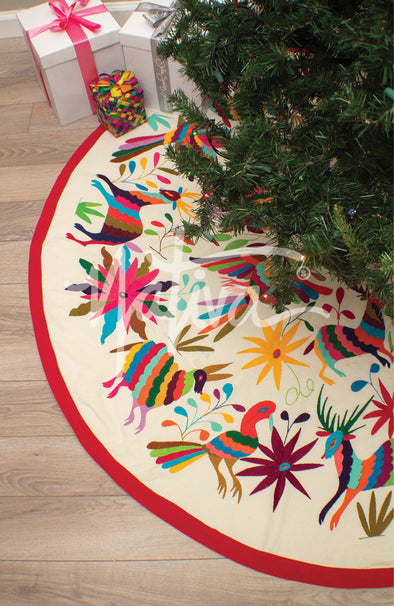 Tree Skirt- Otomi Large - Natural Multi Color