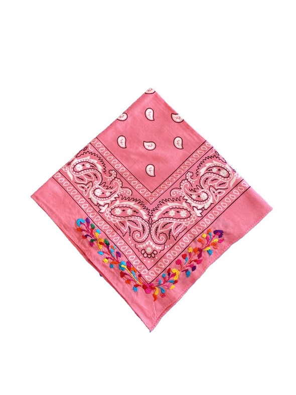 Embroidered Bandana Oaxaca- Multiple Colors Available