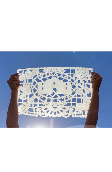 Limited Edition Fiesta Papel Picado Reusable Cloth Placemat - Multiple Colors Available