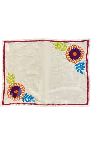 Placemat - Chiapas Embroidery - Multiple Color Options
