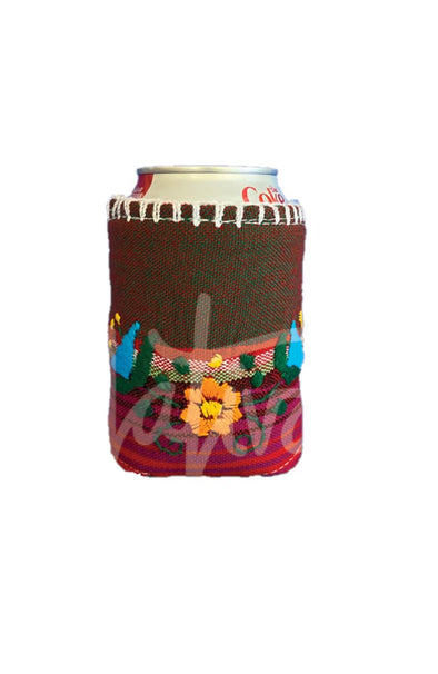 Koozie - Floral - Multicolored Embroidery