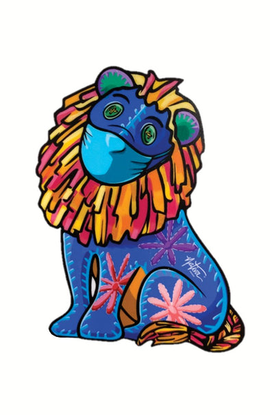 Nativa Stay Safe Lion Sticker
