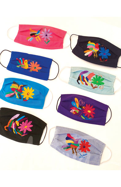 Otomi Embroidered Face Mask- NEW COLORS!