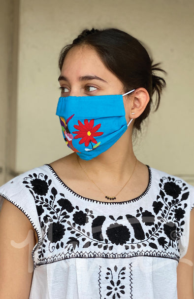 Otomi Embroidered Face Mask- Multiple Colors Available