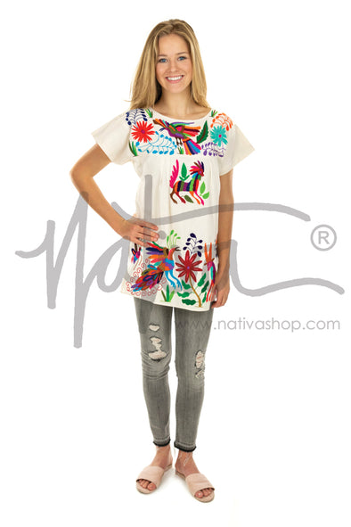 Otomi Tunic Blouse - Natural/Multi