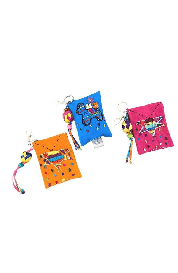 Embroidered Hand Sanitizer Key Chain Bag