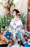Otomi Poncho - Natural/Multi