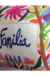 "Otomi Embroidered Pillow - ""Familia"""
