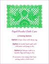 Tablecloth - Large Rectangular Papel Picado Reusable Cloth   - Multiple Colors Available