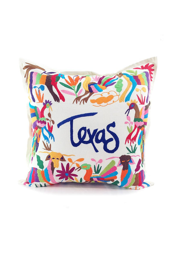 "Pillowcase- Otomi Embroidered - ""Texas"""